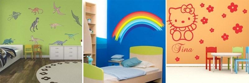 Stenske nalepke za otroško sobo