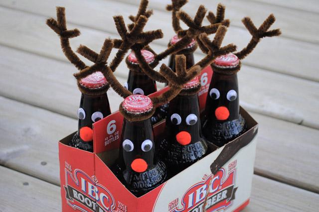 Steklenice piva - jelenčki