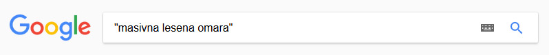 Google - frazno iskanje