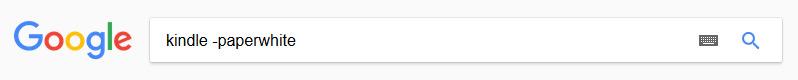 Google - iskanje brez določene besede