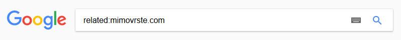 Google - iskanje podobnih spletnih strani