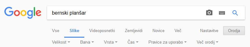 Google - napredno iskanje slik