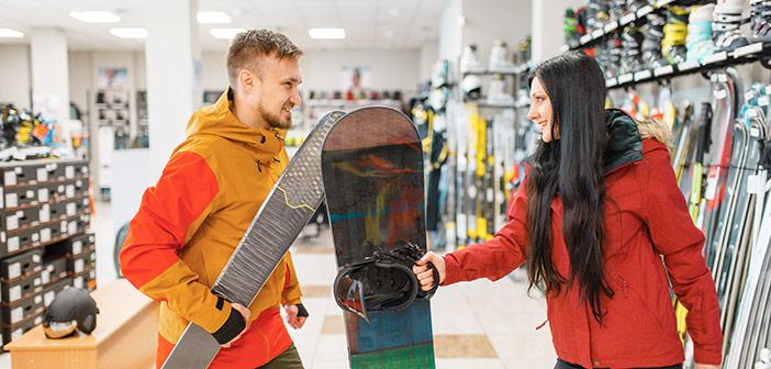 Nakup snowboarda